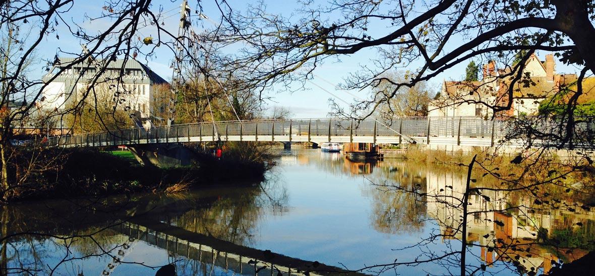 Lockmeadow Millennium Bridge Maidstone River Park
